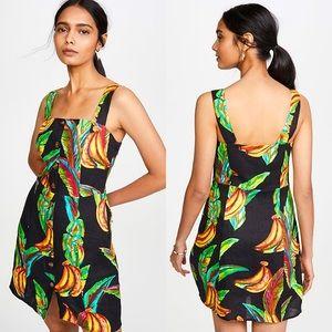 Preta Banana & Leafs Linen Mini Dress Medium